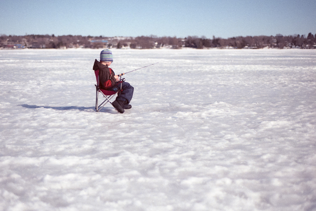 Ice Fishing on Chemong Lake